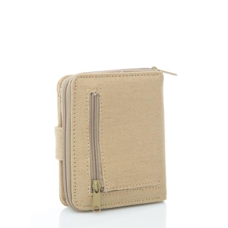 portefeuille, porte monnaie en chanvre et coton bio