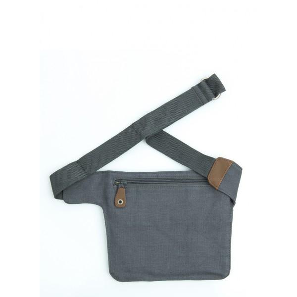 sac ceinture, banane plate, pour voyage en chanvre et coton bio