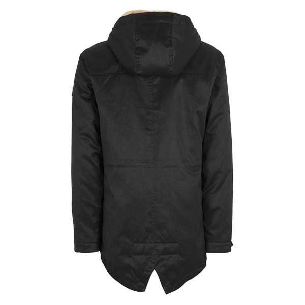 VEGAN PARKA LONG BLACK LIGHT MAN