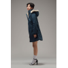 VEGAN PARKA LONG HOODLAMB BLUE
