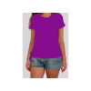 tee shirt manches courtes - violet